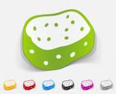 Realistic design element, sponge — Stock Vector