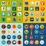 Set of Christmas icons — Stock Vector #72595551