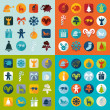 Set of Christmas icons — Stock Vector #72596377