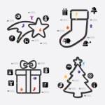Christmas line infographic — Stock Vector #72598487