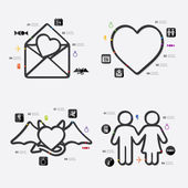 Valentine's Day infographic — Stock Vector