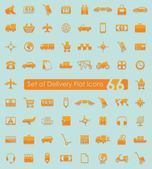 Set of delivery icons — Stock Vector