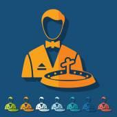 Flat design: dealer casino — Stock Vector