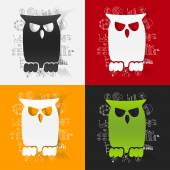 Drawing business formulas with owl — Stock Vector