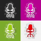 Drawing business formulas with office chair — Stock Vector