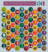 Set of gaming icons — Stock Vector