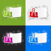 Drawing business formulas with clip — Stock Vector