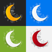 Drawing business formulas with moon — Stock Vector