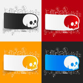 Drawing business formulas with skull — Stock Vector