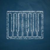 Piano keys icon — Stock Vector