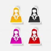 Telephone operator icons — Stock Vector