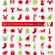 Set of Christmas stickers — Stock Vector #73086871