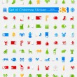 Set of Christmas stickers — Stock Vector #73087017