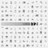 Set of ecology stickers — Stock Vector