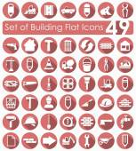 Set of building icons — Stockvector