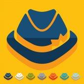 Flat design: hat — Stock Vector