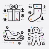 Christmas infographic illustration — Stock Vector