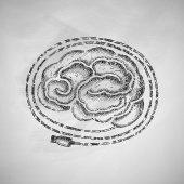 Brain icon sketch — Stock Vector