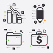 Business infographic illustration — Stock Vector