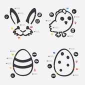Easter infographic illustration — Stock Vector