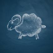 Sheep icon sketch — Stock Vector