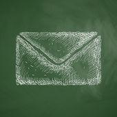 Envelope icon sketch — Stock Vector