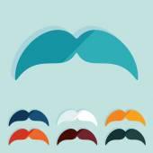 Flat design: mustache — Stock Vector