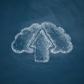 Cloud icon sketch — Stock Vector