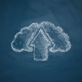 Cloud icon sketch — 图库矢量图片