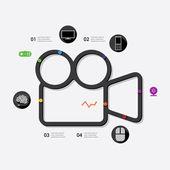 Technology infographic illustration — Stock Vector