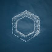 Polygon icon sketch — Stock Vector