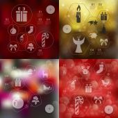 Christmas infographic with unfocused background — Stock Vector