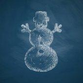 Christmas snowman icon — Stock Vector