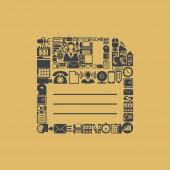 Floppy shaped icon — Stock Vector