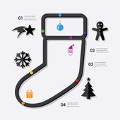 Christmas infographic with icons — Stock Vector