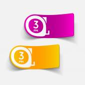 Cartridges meters icons — Stock Vector