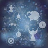 Illustration de Noël infographique — Vecteur
