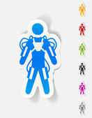 Exoskeleton design element — Stock Vector