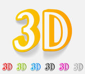 3d design element — Stock Vector