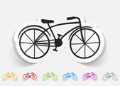Bicycle realistic design element — Stock Vector