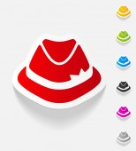 Hat realistic design element — Vector de stock