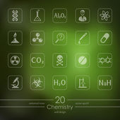 Set of chemistry icons — Stock Vector
