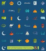Sada ikon ramadánu — Stock vektor
