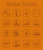 Set of water sports simple icons — Stock Vector