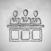 Jurors icon — Stock Vector