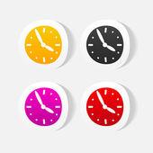 Realistic design element. clock — Stock Vector