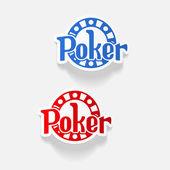 Gerçekçi tasarım öğesi. Poker — Stok Vektör