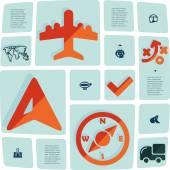 Navigation flat infographic — Stock Vector