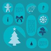 Kerstmis platte infographic illustratie — Stockvector