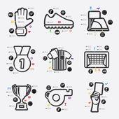 Football infographic illustration — Stock Vector